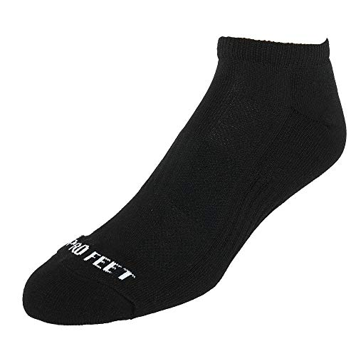 (Pro Feet Performance Multi-Sport Polypropylene Low Cut 3-Pack Sock (Black))