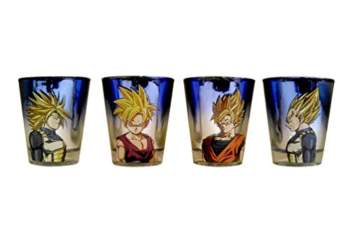 Official Dragon Ball Z, Pack of 4 shot glasses, - Dragon Cookie Ball Z