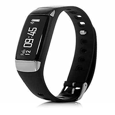 J-STYLE Wearable Fitness Heart Rate Monitor Bracelet Bluetooth Activity Tracker Watch Wireless Step Walking Sleep Calorie Counter Wristband