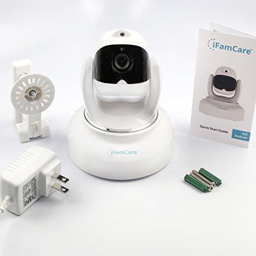 iFamCare Helmet: videocamera di sorveglianza per interni Wi-Fi Full HD 1080p per iPhone e Android con sensore di qualità dellaria, baby monitor, panoramica 360°/inclinazione 70°, audio bidirezionale,