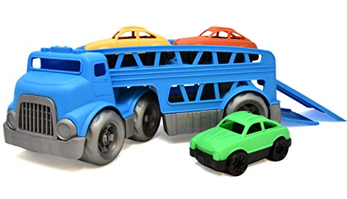 Number 1 in Gadgets Car Carrier Truck Toy, Trailer Transport Vehicle with 3 Mini Cars for Boys Girls and Toddler ()