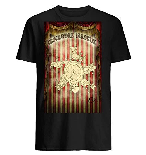 Steampunk Clockwork Carousel Funny Collection Graphic Unisex T-Shirt ()
