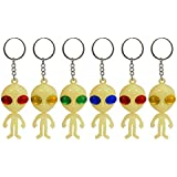 Lizzy GLOW IN THE DARK ALIEN KEYCHAIN Pinata Toy Loot/Party Bag Fillers Key Chain Ring