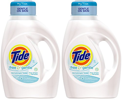 tide-liquid-laundry-detergent-free-gentle-32-load-50-ounce-pack-of-2