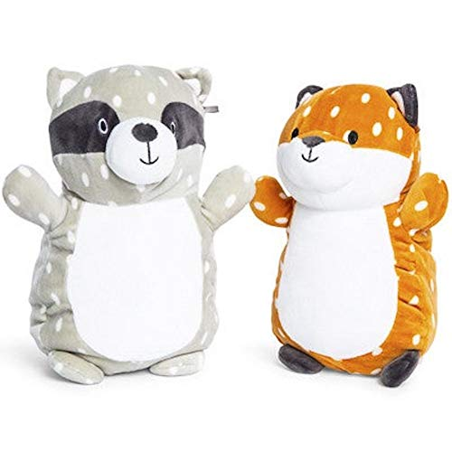 Squishmallows Kellytoy Woodland Critters Standing Fox and Raccoon Plush Toy Set of 2
