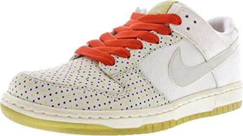 Nike Womens Dunk Low Premium Sneaker Alta Moda Alla Caviglia Bianco / Bianco-sfida Oro Rosso Metallizzato
