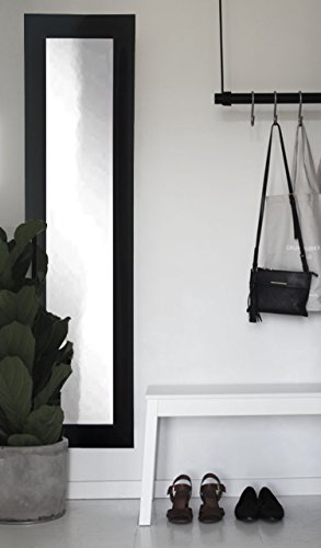 BrandtWorks BM2SKINNY Matte Black Full Length Mirror, 71 x 16'', Black by BrandtWorks