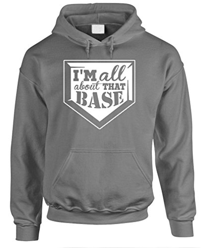 I'M ALL ABOUT THAT BASE softball baseball - Mens Hoodie, S, Charcoal