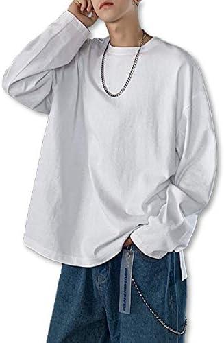 [スノーラル] SNOWRAL カットソー tシャツ オーバーサイズ 長袖 無地 サイド スリッド クルーネック 8色展開 M~XL