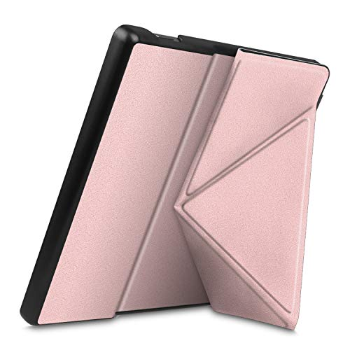 Fintie Origami Case for All-New Kindle Oasis (10th Generation, 2019 Release and 9th Generation, 2017 Release) - Slim Fit Stand Cover Support Hands Free Reading with Auto Wake Sleep, Rose Gold