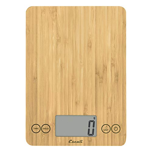 Escali Arti ECO157 Precision Kitchen Scale, Modern Design, Eco-Friendly, Digital LCD Display, 15lb Capacity, Natural Bamboo Finish