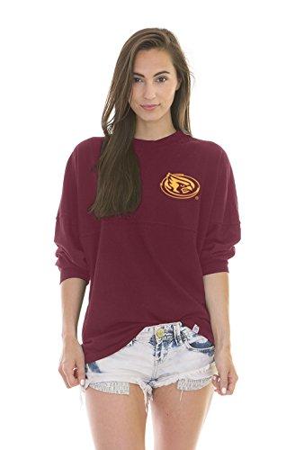 - NCAA Iowa State Cyclones Women's Jade Long Sleeve Football Jersey, Red, Small