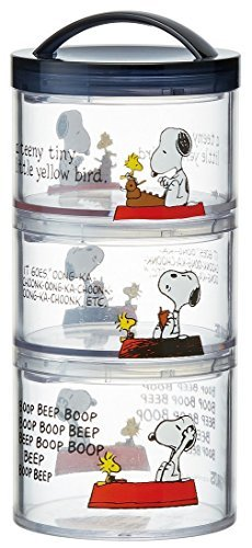 Skater Snoopy Snoopy 15 Bottle-type 3 stage lunch box LRT3C from Japan [並行輸入品]   B07Q3WXFW4