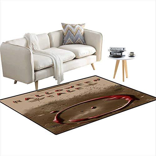 Kids Carpet Playmat Rug Halloween Sale Festival Event Announcement Vertical Template in Spice Colors 55