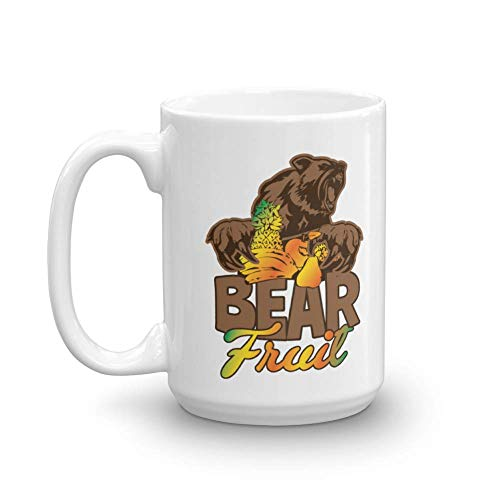 Ceramic Bearing Token - Bear Fruit Coffee & Tea Gift Mug, Décor, Accessories, Novelty Token, Items & Kitchen Utensils For Hopeful Men & Women (15oz)