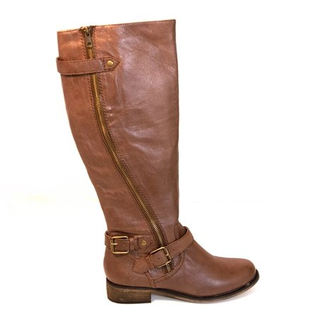 Steve Madden Women's Synicle Motorcycle Boot,Brown,6 M US
