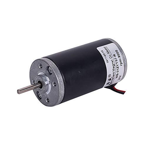 LDY 3mm Shaft Diameter Permanent Magnet DC High Speed Motor, Carbon Brush Speed Control Motor, 12V/24V, 3500 RPM / 5000 RPM / 6500 RPM / 8000 RPM ()