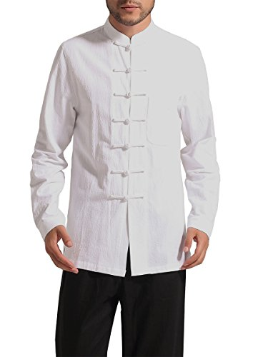 Bitablue Mens Chinese Traditional Style Cotton Shirt