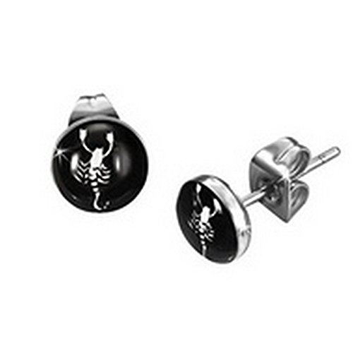 Stainless Steel Scorpio Zodiac Earrings