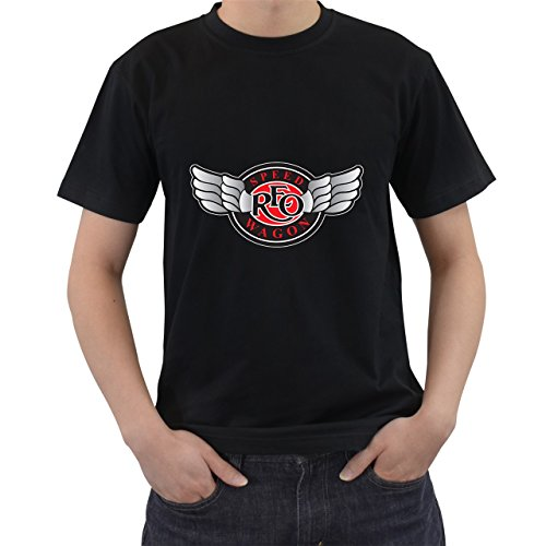 [Reo Speedwagon Logo Legend Of Rock T-Shirt Short Sleeve By Saink Black Size XL] (Circle Jerk Costume)