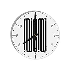 TooLoud Miami Mirage 8 Round Wall Clock with Numbers