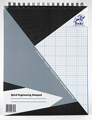 Engineering Paper 200 sheet - Spiral Notepad (Grey Cover)