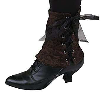 Steampunk Boots & Shoes, Heels & Flats Reversible Velvet Spats $31.95 AT vintagedancer.com