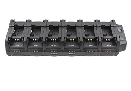 18TRCH Multi Unit Bank Charger for CP200 CP200d CP200XLS PR400 CP140 CP150 & More by TITAN RADIO