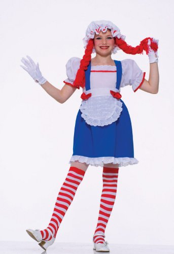 Raggedy Ann Rag Doll Kids Halloween Costume size Small 4-6