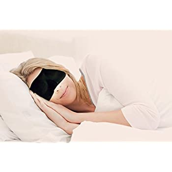 Contoured & Comfortable Sleep Mask - Includes silk carry pouch