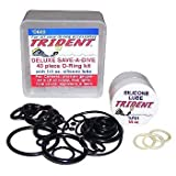 Trident Deluxe Save A Dive 40 Piece O-Ring Kit for Scuba Diving Tank Valves, Hoses, Regulators, Cameras etc Dive Diver by Trident