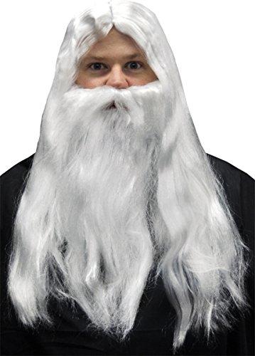 Morris Costumes Men's MERLIN WIG AND BEARD SET (Merlin Wig And Beard Set)