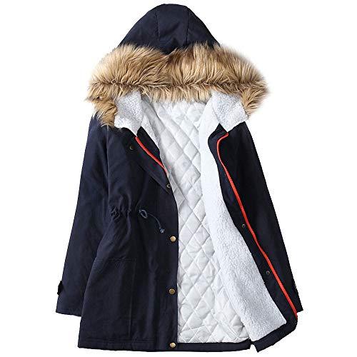 abrigo para Abrigo mujer larga abrigo Chaqueta Parka de para cálido 8xwUZ1qO