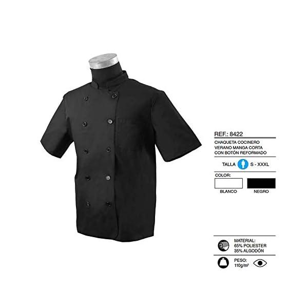 MISEMIYA Chaquetas Bar Restaurante Ropa Cocinero con Mangas Cortas Camisa de utilidades de Trabajo Hombre 4