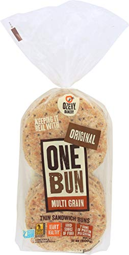 Ozery Bakery One Bun Multi Grain, Heart Healthy Thin Sandwich Buns Pre-sliced, 21 Ounce (pack Of 6)