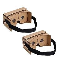 Sinbury® Google Casque virtuel 3D VR Lunettes de natation en carton pour Android iPhone iOS avec NFC et ajustable