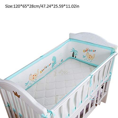 Per 3D Breathable Crib Bumper Pads for Standard Crib Padded Crib Liner Set for Baby Safety Bumper Guardrail Crib Rail Padding Machine Washable