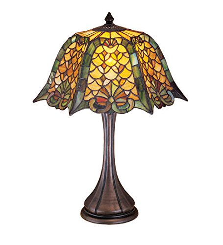 - Stained Glass Duffner & Kimberly Shell & Mond Table Lamp