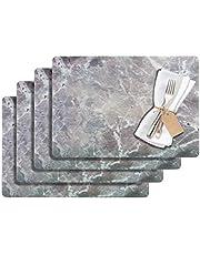 Westmark placemats, 4 stuks, 43,5 x 30 cm, PET kunststof, grijs