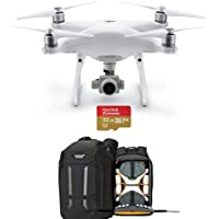 DJI Phantom 4 Advanced+ Quadcopter Drone with 5.5 FHD Screen Remote Controller - Bundle With Lowepro DroneGuard Pro 450 Backpack, 32GB MicroSDHC U3 Card