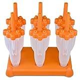 Tovolo Rocket Pop Mold, Orange - Set of 6
