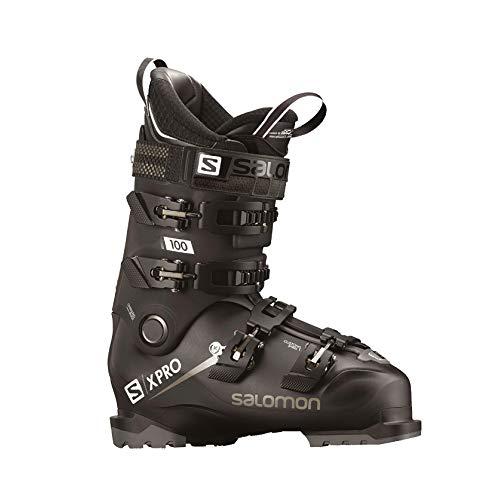 - Salomon X-Pro 100 Ski Boots 2019-30.5/Black-Metallic Black-White