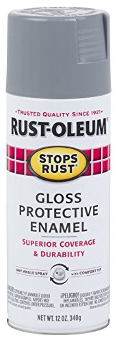 Rust-Oleum 7786830 Stops Rust Spray Paint, 12-Ounce, Gloss Smoke Gray