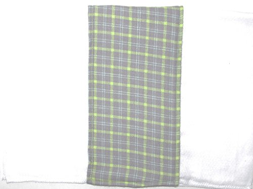 Gerber Flannel Burp Cloths (Baby Burp Diaper Cloth (flannel insert Gray Green Plaid) by Clean Kidz)