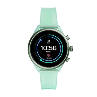 Fossil Sport Heart Rate Metal and Silicone Touchscreen Smartwatch, Color: Mint (FTW6057) (B081HR1L79) | Amazon price tracker / tracking, Amazon price history charts, Amazon price watches, Amazon price drop alerts