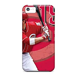 Bumper Hard Phone Cover For Iphone 5c (GcI16674EFJZ) Unique Design Lifelike Cincinnati Reds Pictures