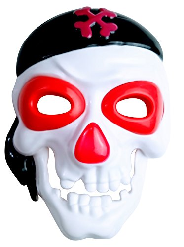 Momentum Brands Skull Pirate Light Up Mask -Glow in The Dark Color Changing LED Halloween by Momentum Brands