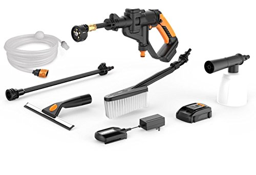 M.E.R.A. Cordless Portable Power Cleaner, Value Bundle, with Cleaning Accessories WG629.1, 20V Li-ion (2.0Ah), 320psi, 20V Power,