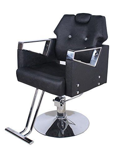 Price comparison product image Barber Chair Reclining Hydraulic Barber Chair PU Leather Styling Salon Work Station Shampoo Tool (Black)