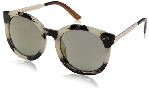 A.J. Morgan Women's Cat Du Rectangular Sunglasses, Grey Tortoise, 53 - Sunglasses By Aj Morgan